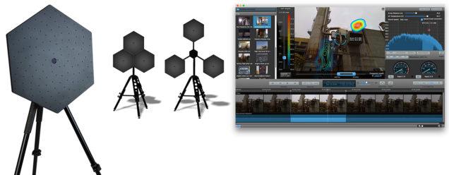 Hextile acoustic camera